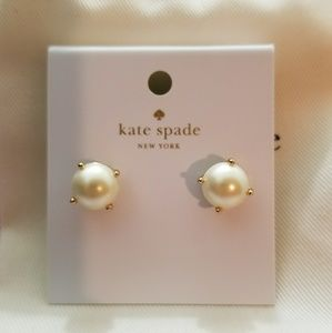 NWT Kate Spade Cream Pearl Earrings